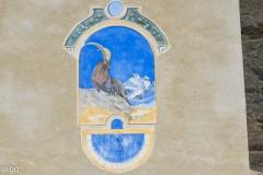 Cadran de l'église de Ristolas : le pays des bouquetins