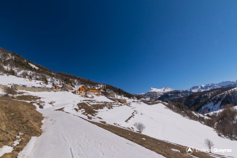 arrivee a souliers piste ski fond