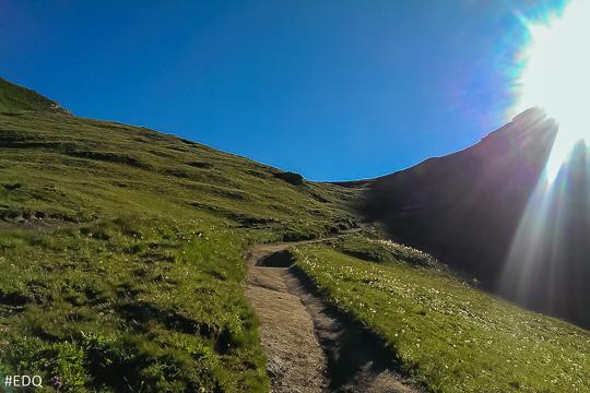 Dernière montée sous le Col Vieux