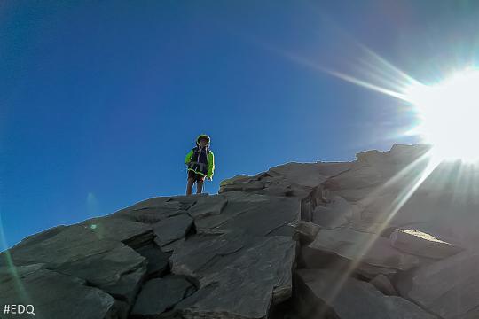 Derniers mètres d'ascension du Pain de Sucre