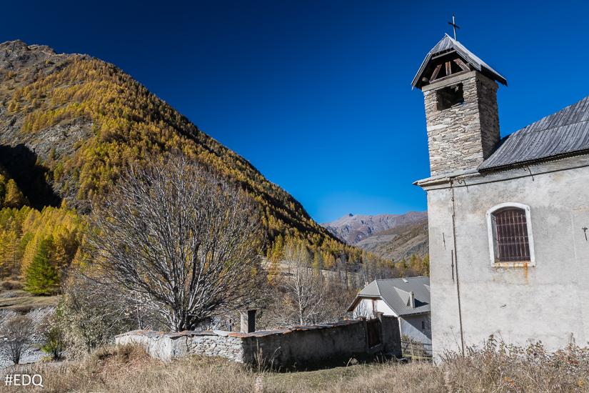 Eglise de l'Echalp - Départ de randonnée