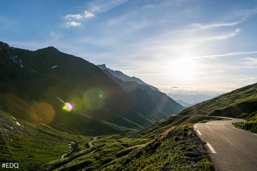 La descente du Col Agnel coté français