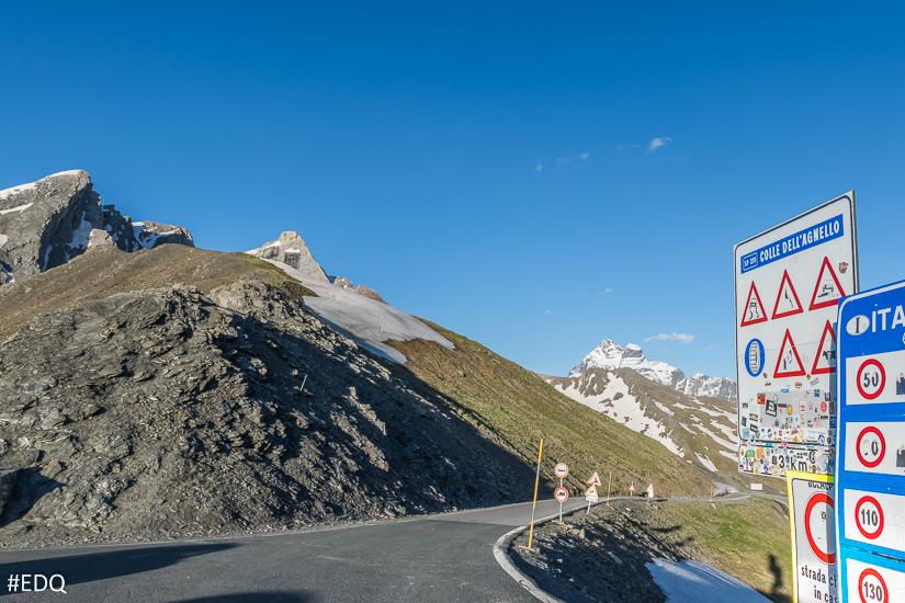 Le col Agnel côté italie : le Pic d'Asti et le Mont-Viso