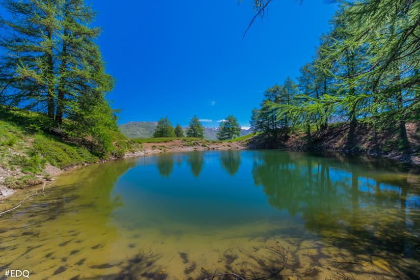 le lac des clots un lac peu profond