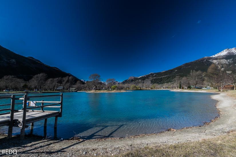 Le ponton du lac d'Eygliers