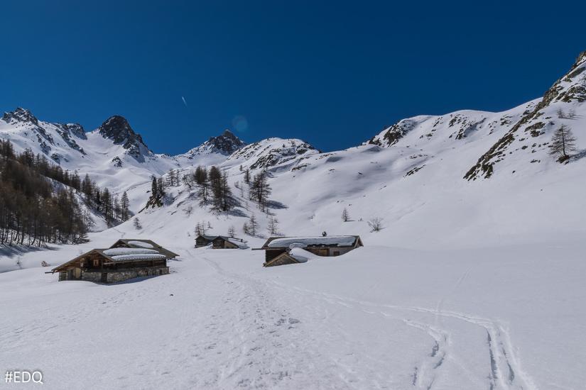 l'Eychaillon sous la neige