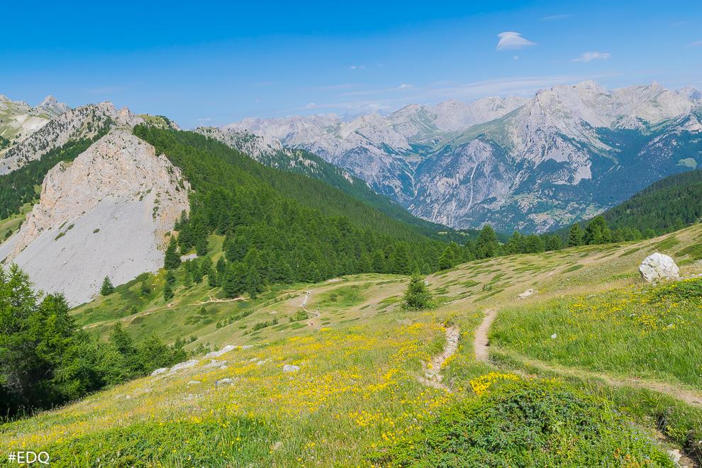 vue globale col de bramousse depuis sentier cretes de chateau jean grossan