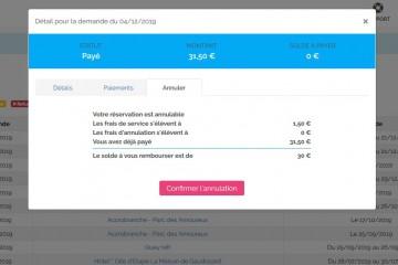 Du neuf côté booking : annulation & remboursement