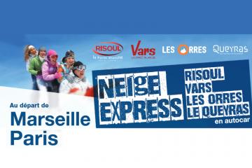 Neige Express 2018/2019 - Liaisons Bus Paris/Marseille pour les stations du Queyras Guillestrois