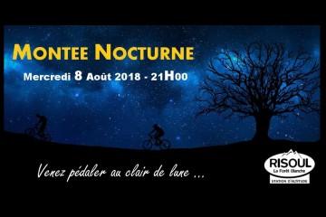 Montée nocturne Risoul Août 2018