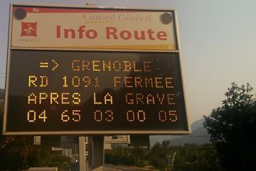 Comment venir dans le Queyras avec une RD1091 Route du Lautaret fermée?