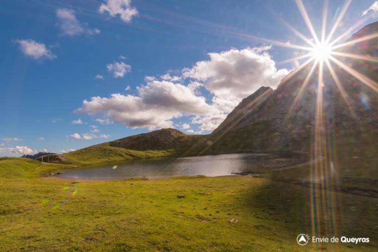 Lac de Souliers (depuis hameau de Souliers)