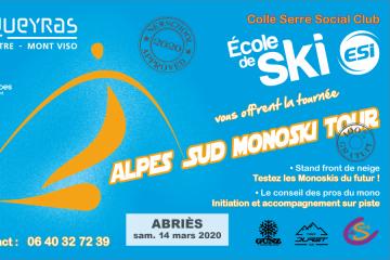 Alpes du Sud Monoski Tour 2020 - Etape 2 Abriès