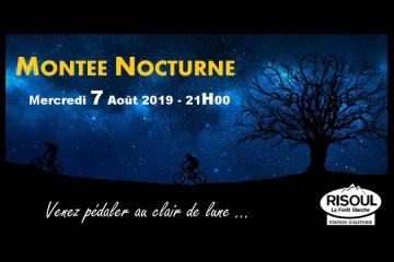 Montée nocturne Risoul Août 2019