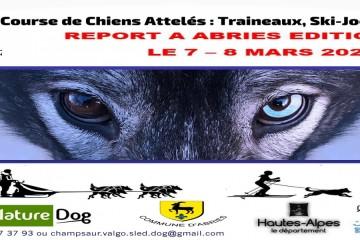 Report Valgaude Traineau 2020 / Championnat de France neige Sprint Chiens Attelés