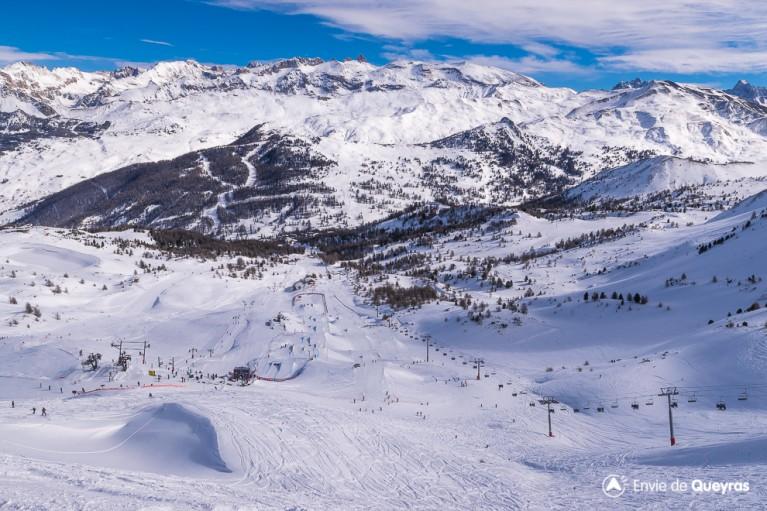 vue globale snowpark eyssina lors freestyletour2016