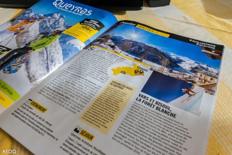 La double page dédiée au Queyras-Guillestrois dans le supplément Magazine L'Equipe 2015