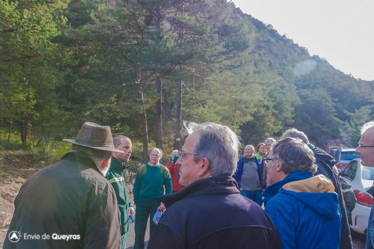 Les explication de l'ONF avant d'entrer dans la réserve