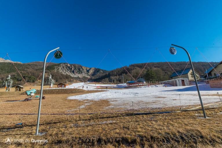 Le front de neige d'Arvieux le 23 décembre 2015