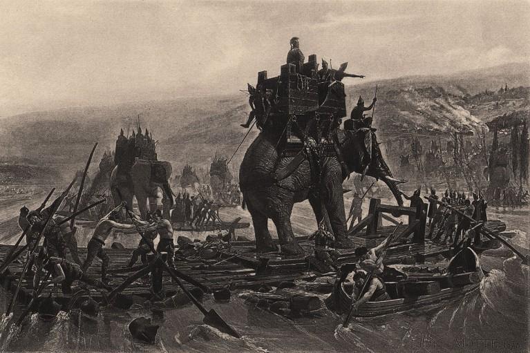 hannibal traversant le rhone henri motte 1878