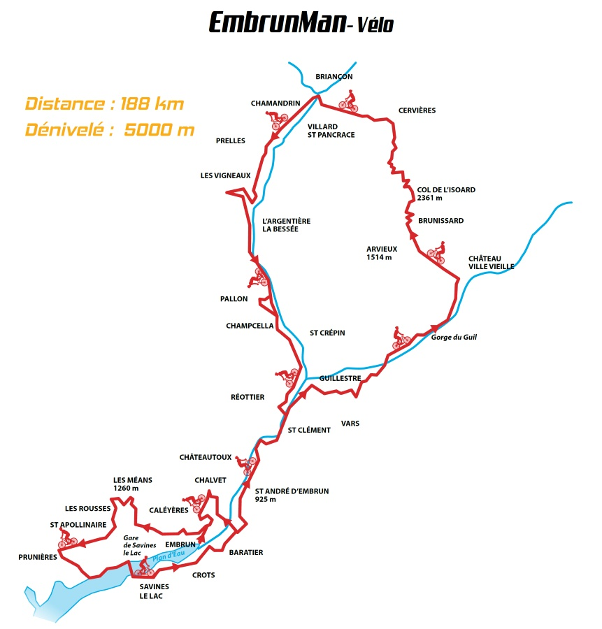parcours velo embrunman
